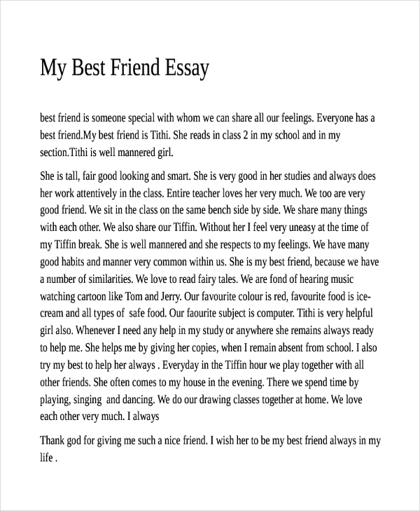 Best essay sample