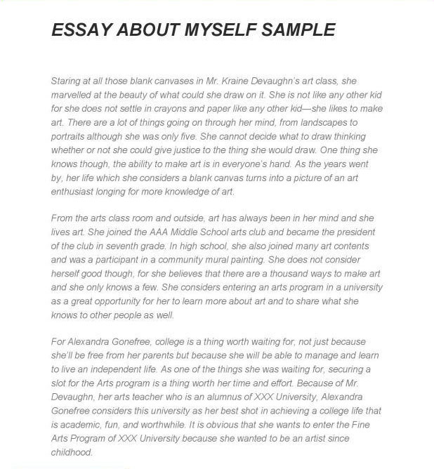 How to write a essay about yourself